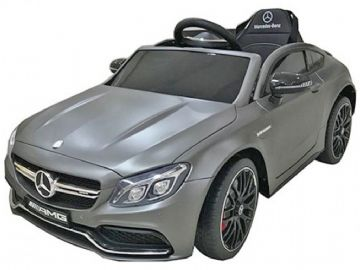 Mercedes Benz C63 AMG Official 12v Electric Kids Ride on Car Matt Grey with Remote Control